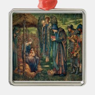 Star of Bethlehem Silver-Colored Square Ornament