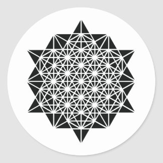 Star of Creation Space Time Mandala Classic Round Sticker