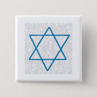 Star of Davi 2 Inch Square Button