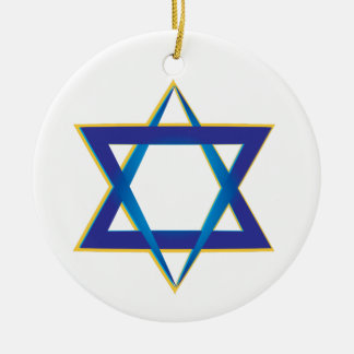 Star Of David 1 Ceramic Ornament