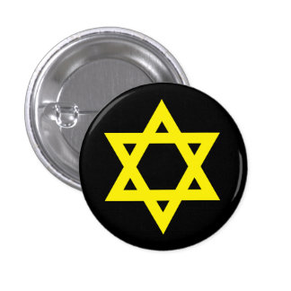"""STAR OF DAVID"" 1 INCH ROUND BUTTON"