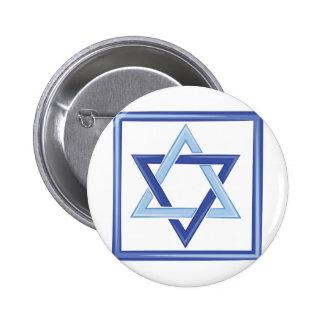 Star Of David 2 Inch Round Button