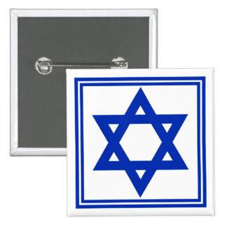Star of David 2 Inch Square Button