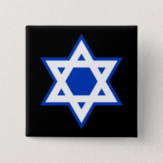 Star of David 2 Inch Square Button