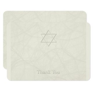 Star of David 3 Simple Sympathy Thank You Card