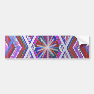 Star of David,... a blend of colors. Bumper Sticker