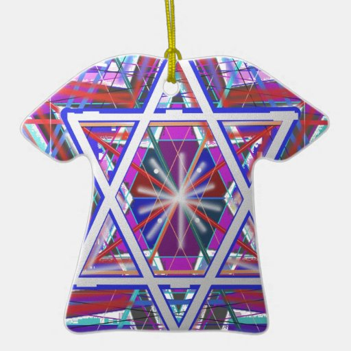 Star of David,... a blend of colors. Christmas Tree Ornaments