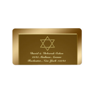 Star of David Address Labels