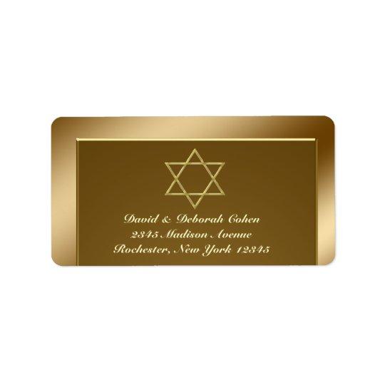 Star of David Address Labels