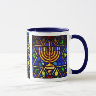 STAR OF DAVID AND MENORAH MUG