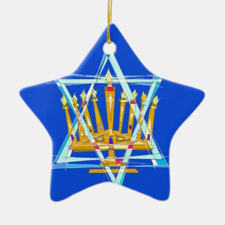 Star of David and the Menorah Christmas Ornament