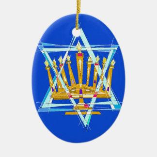 Star of David and the Menorah Ornament