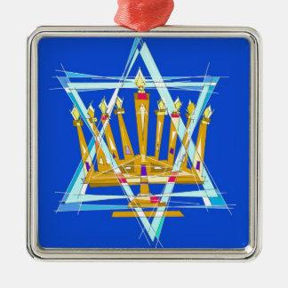 Star of David and the Menorah Christmas Tree Ornaments