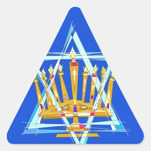 Star of David and the Menorah Sticker