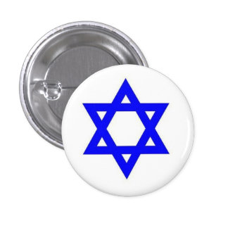 Star of David Badge 1 Inch Round Button