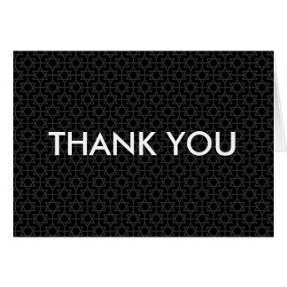 Star of David Bar/Bat Mitzvah Thank You Greeting Card