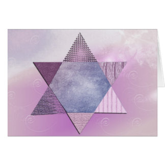 Star of David Bat Mitzvah Card