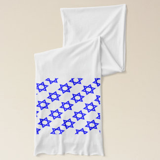 Star Of David Blue & White Scarf