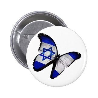Star of David Butterfly 2 Inch Round Button