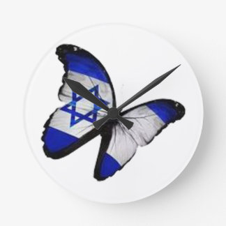 Star of David Butterfly Round Clock