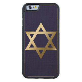 Star of David Carved Maple iPhone 6 Bumper Case