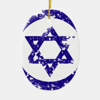 Star of David Ceramic Oval Ornament