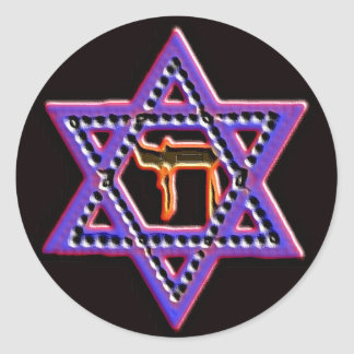 Star of David Chai sticker
