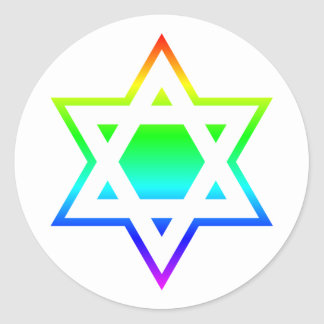 Star of David Classic Round Sticker