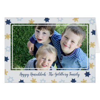 Star of David | Cute Hanukkah Blue Star Photo Card