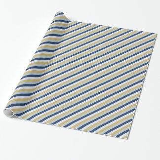 Star of David | Cute Hanukkah Striped Pattern Wrapping Paper