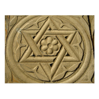 Star Of David Engraved In Stone - Judaism Postcard