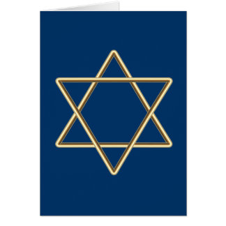Star of David for Bar Mitzvah or Bat Mitzvah Card