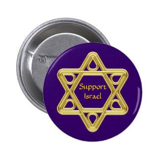 Star of David Gold 2 Inch Round Button