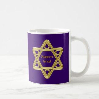 Star of David Gold Basic White Mug