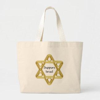 Star of David Gold Jumbo Tote Bag