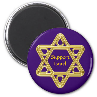 Star of David Gold Magnets
