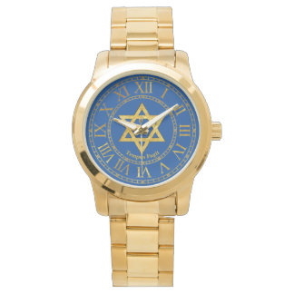 Star of David Gold Personalize Watches