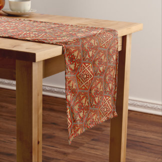 Star of David Golden Red Short Table Runner