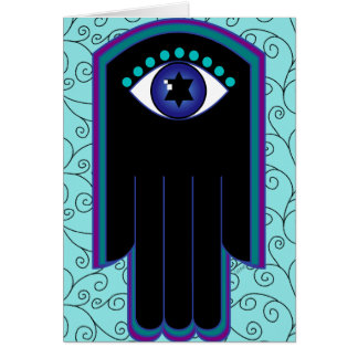Star of David Hamsa 01 custom card