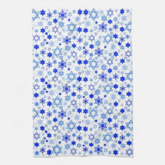 Star of David Hanukkah Kitchen Towel