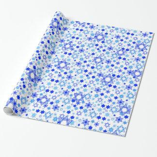 Star of David Hanukkah Wrapping Paper