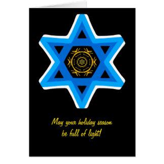 Star of David. Holiday card. Card