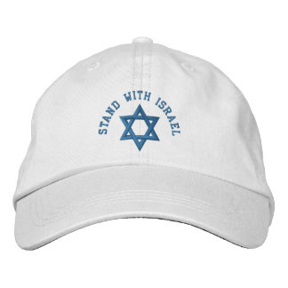 Star of David I Stand With Israel Embroidered Hat