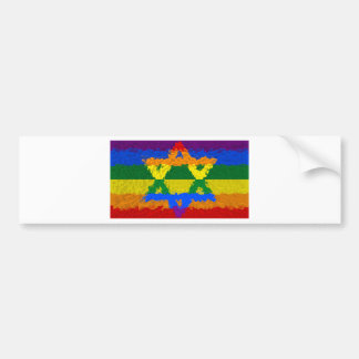 Star of David - Jewish - Gay Pride Bumper Sticker