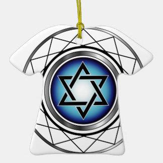 Star of David- Jewish religious symbol Double-Sided T-Shirt Ceramic Christmas Ornament