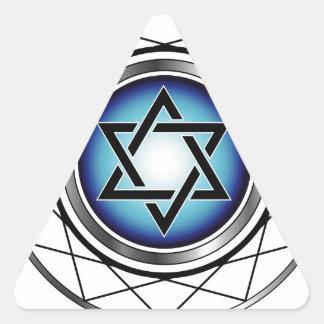 Star of David- Jewish religious symbol Triangle Stickers