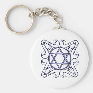 Star of David Key Chain