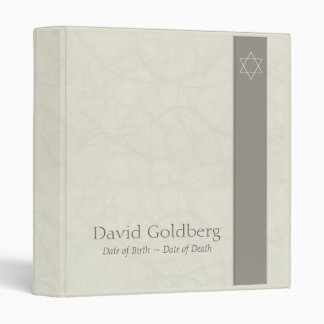 Star of David - Memorial Guest Book - Binder