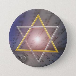 Star of David Menorah  Judaism Button