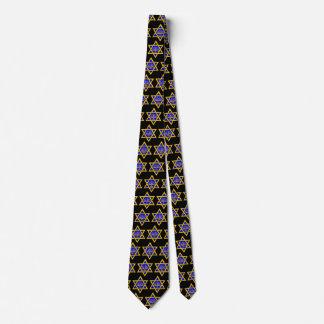 Star of David & Menorah Tie